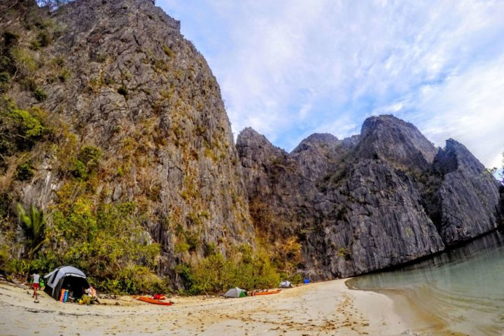 Camping in one of our favorite spots on the west coast of Coron Island, where we meet some of the local Tagbanua tribe.