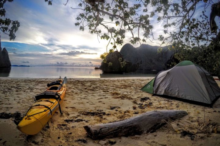 True exploration - kayak and camp.