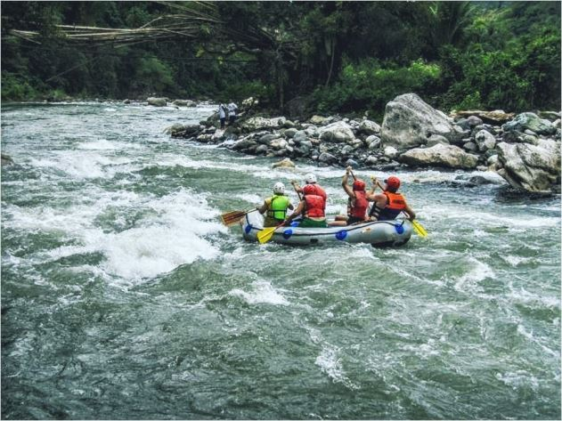 Whitewater river rafting on the Chico river in Northern Luzon.