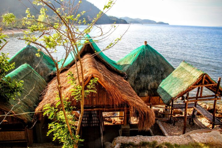 Seaside pavillion at Camp Calauit, located within Palawan SandCastles in Cheey, Busuanga - jump off point for kayak, snorkel and dugong watching adventures.